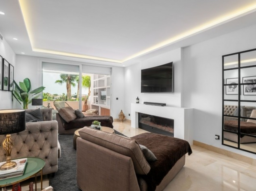 White and browns interior