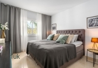 Grey and white bedroom and interior