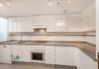 Large silver and white kitchen