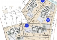 Complete building plan of the modern villas and residential areas