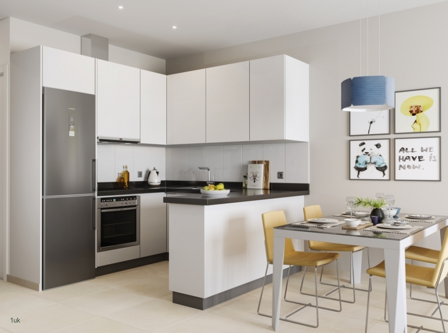 Small corner kitchen with appliances