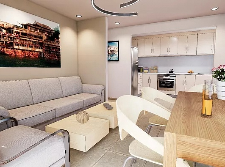 Huge open plan living room and kitchen