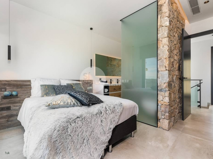 Shower located inside of the bedroom