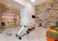 Ample space for rowing machine and gym equipment