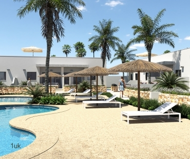 Sun loungers by the pool