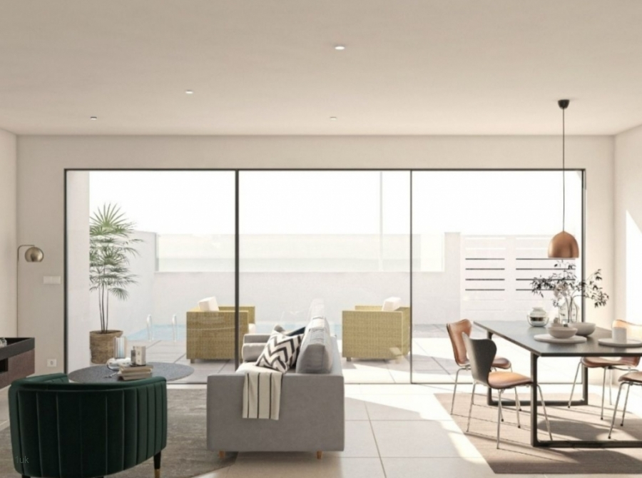 Large sliding windows on to the outdoor terrace
