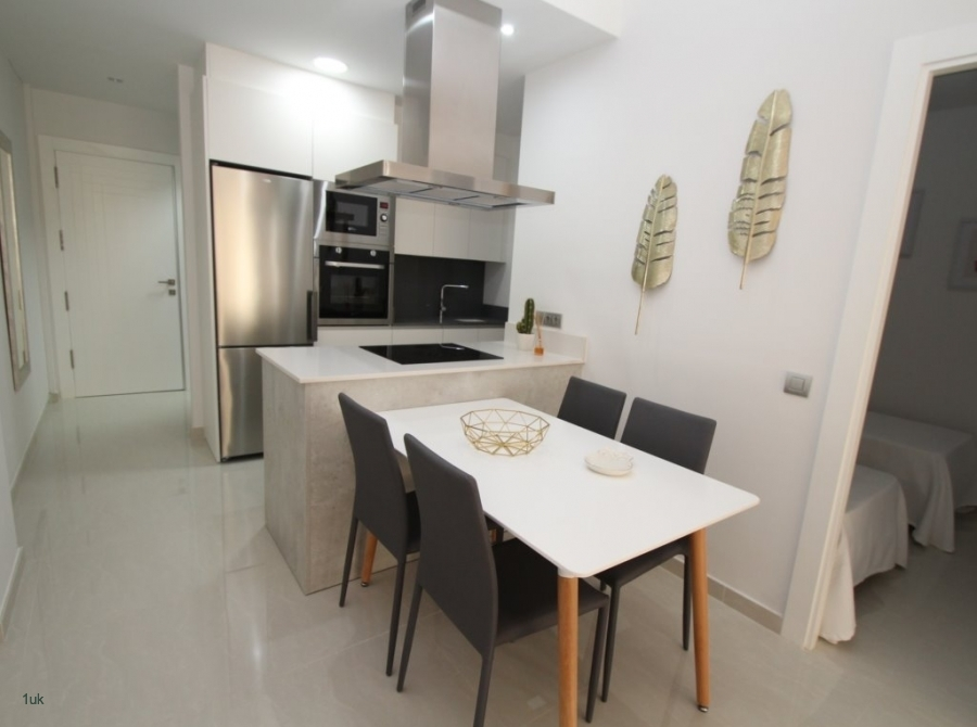 Four seater dining table inside the apartment